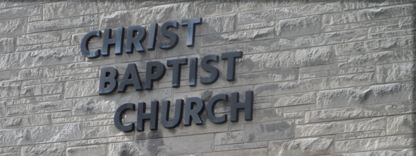 Christ Baptist Church Lettering